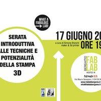 Foto scattata a Fablab Bergamo da Luca S. il 6/12/2014