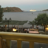 Photo taken at Tzivaeri Restaurant Patmos by Vassilis 🎗 D. on 7/23/2016