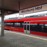 Photo taken at Würzburg Hauptbahnhof by Lars on 2/18/2013