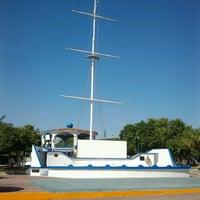 Photo taken at Parque central salina cruz by Ruben M. on 12/24/2012