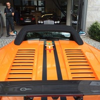 Photo taken at Lamborghini Store by Kees R. on 8/20/2014