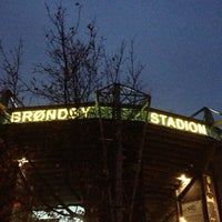 Photo taken at Brøndby Stadion by Thomas N. on 11/18/2012
