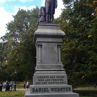 Photo taken at Statue of Daniel Webster by Steve Q. on 10/13/2013