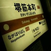 Photo taken at Sakaisuji-Hommachi Station by chiaki (. on 11/24/2012