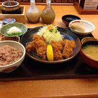 Photo taken at かつ福 by j u. on 10/25/2013