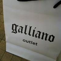 Photo taken at Galliano Outlet by Max Nigido on 3/15/2013