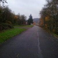 Photo taken at Pont de Sclayn by Radiolibreoficiel R. on 11/29/2013