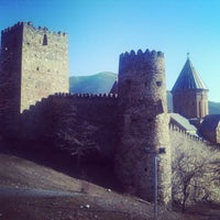 Photo taken at Ananuri Castle Complex by Ann C. on 2/14/2013