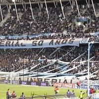 Photo taken at Estadio Juan Domingo Perón (Racing Club) by Matias B. on 6/21/2013