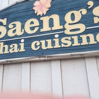 Photo taken at Saeng's Thai Cuisine by Anthony R. on 4/7/2014