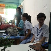 Photo taken at Good Samaritan Colleges, Integrated School, Makabayan Faculty Room by Jerome S. on 10/22/2012