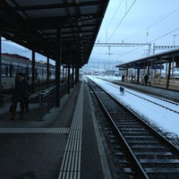 Photo taken at Gare de Delémont by Philippe B. on 2/7/2013