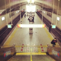 Photo taken at Midosuji Line Yodoyabashi Station (M17) by Yossy on 4/17/2013