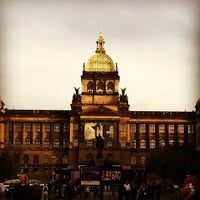 Photo taken at Wenceslas Square by Kate S. on 9/25/2012