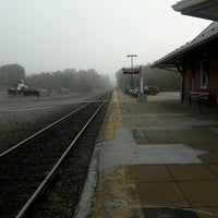 Photo taken at Walpole Train Station by Cynthia C. on 10/8/2016