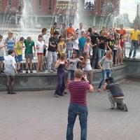 Photo taken at Музыкальный фонтан by Анастасия Ч. on 5/27/2013