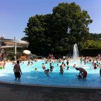 Photo taken at Gartenbad Bottmingen by Maria K. on 7/21/2013