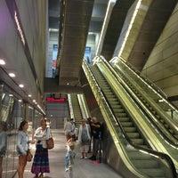 Photo taken at Kongens Nytorv st. (Metro) by Ksenia on 7/8/2013