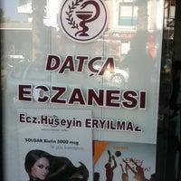 Photo taken at Datça Eczanesi by Alpege A. on 7/20/2013