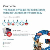 Photo taken at Gramedia by lina a. on 7/8/2016