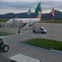 Photo taken at Aeroporto Internacional de Florianópolis / Hercílio Luz (FLN) by Camila F. on 1/15/2013