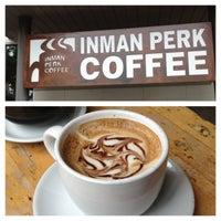 Photo taken at Inman Perk Coffee by Brittney N. on 7/6/2013