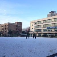 Photo taken at 용산초등학교 by Luna on 12/2/2014