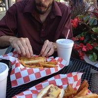 Photo taken at Huey's Hot Dogs by Kevin B. on 8/4/2013