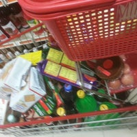 Photo taken at Top 100 Supermarket by Hendy W. on 2/14/2015