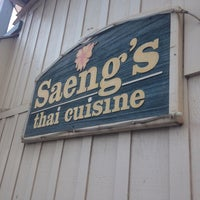 Photo taken at Saeng's Thai Cuisine by Emily on 4/7/2014