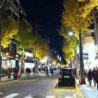 Photo taken at Garosu-gil by Jeonghyun P. on 11/17/2012