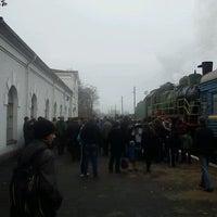 Photo taken at Золотоніський залізничний вокзал by Andrii K. on 11/4/2012