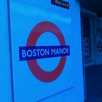 Photo taken at Boston Manor London Underground Station by Chris Claud D. on 5/9/2011