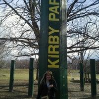 Photo taken at Kirby Park Playground by Tina K. on 2/1/2013