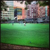 Photo taken at Asphalt Green Battery Park City by Marc L. on 7/17/2013