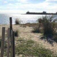 Photo taken at Plumb Beach by Jeffrey on 10/11/2016