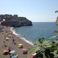 Photo taken at Kapuz Plajı by !Eda Y. on 6/25/2013