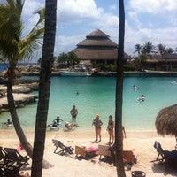 Photo taken at Playa Xcaret by Alex on 3/20/2013