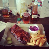 Photo taken at Hang Fire Smokehouse At The Landsdowne by David H. on 6/20/2014