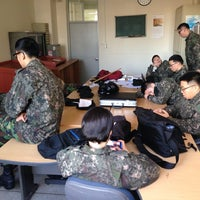 Photo taken at 건국대학교 학군단(ROTC) by Yoon Ho S. on 11/28/2013