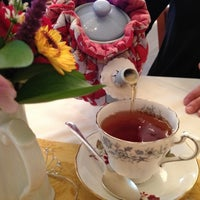 Photo taken at Teaberry's Tea Room by Nancy K. on 9/30/2012