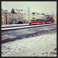 Photo taken at Hradčanská (tram) by Kerem G. on 3/19/2013