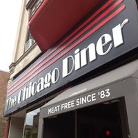 Photo taken at Chicago Diner by Kathleen on 5/25/2013