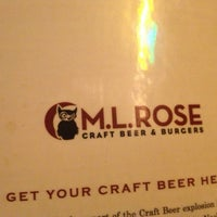Photo taken at M.L.Rose Craft Beer & Burgers by Joe S. on 12/31/2012