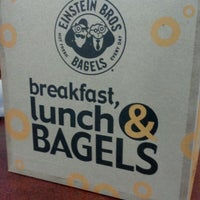 Photo taken at Einstein Bros Bagels by Graham S. on 1/27/2012