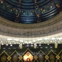 Photo taken at Masjid Agung At-Tin by Evalia H. on 1/13/2013