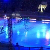 Photo taken at Arena Santos by Adriana Ribas F. on 12/9/2012