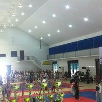 Photo taken at อาคารเอนกประสงค์สนามกีฬาเทศบาลตำบลหนองแค by Charmmy P. on 2/2/2013