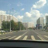 Photo taken at Остановка «Литовский бульвар» by Elizaveta L. on 8/9/2013