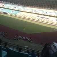 Photo taken at Stadion Utama Riau by Muhammad R. on 2/9/2017